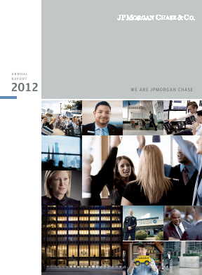 JP Morgan Chase & Co annual report 2012