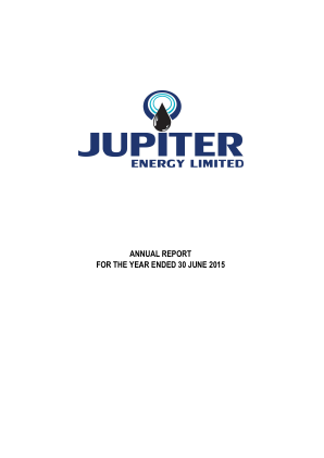 Jupiter Energy annual report 2015