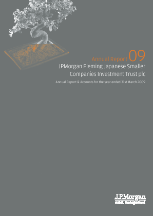 JP Morgan Japan Smaller Companies Trust Plc annual report 2009