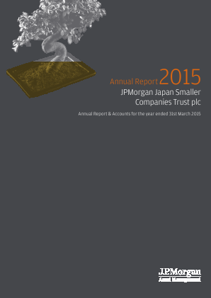 JP Morgan Japan Smaller Companies Trust Plc annual report 2015
