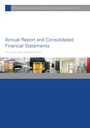 Japan Residential Investment Co annual report 2014