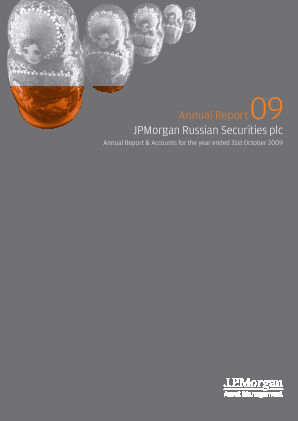 JP Morgan Russian Securities annual report 2009