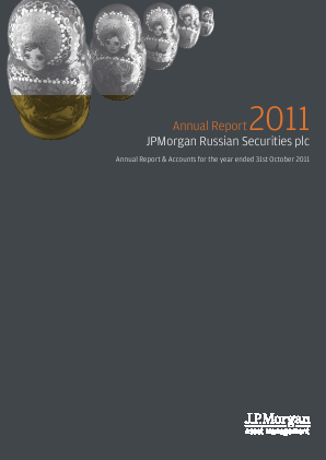 JP Morgan Russian Securities annual report 2011