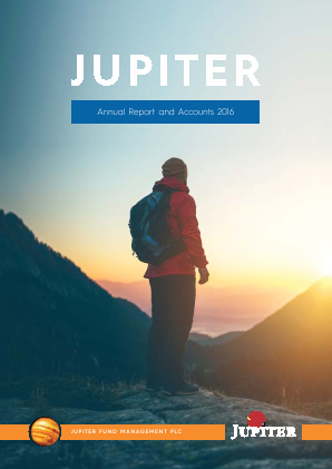 Jupiter Fund Management Plc annual report 2016