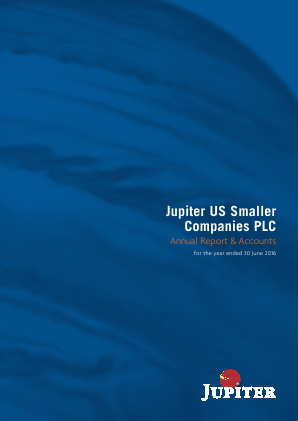Jupiter US Smaller Companies Plc annual report 2016