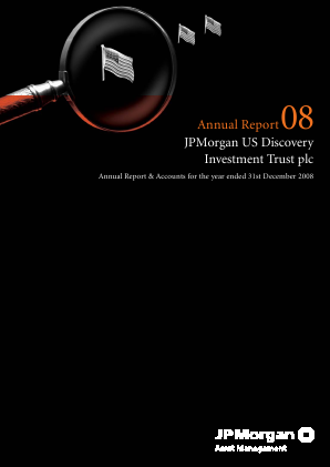 JP Morgan Us Smaller Companies Investment Trust Plc annual report 2008