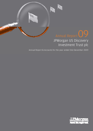 JP Morgan Us Smaller Companies Investment Trust Plc annual report 2009