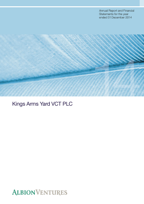 Kings Arms Yard VCT Plc annual report 2014