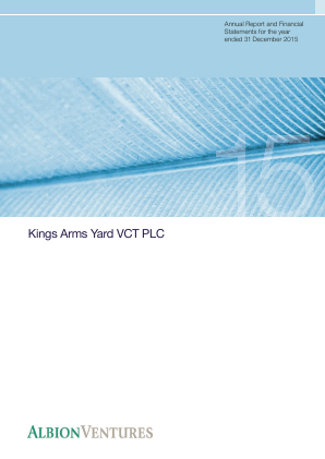 Kings Arms Yard VCT Plc annual report 2015
