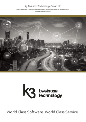 K3 Business Technology Group annual report 2017