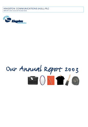 KCOM Group Plc annual report 2003