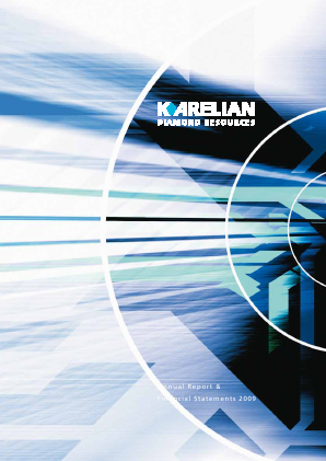 Karelian Diamond Resources annual report 2009