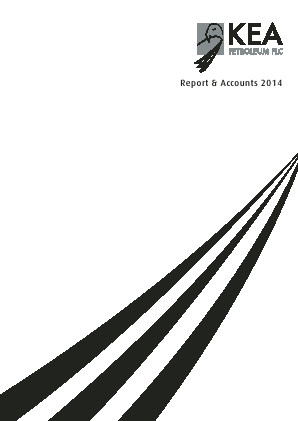 Kea Petroleum Plc annual report 2014
