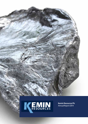 Kemin Resources Plc annual report 2014