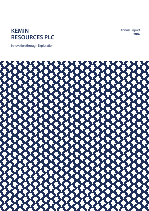 Kemin Resources Plc annual report 2016