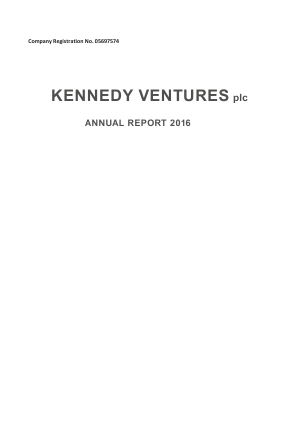 Kazera Global (previously Kennedy Ventures) annual report 2016