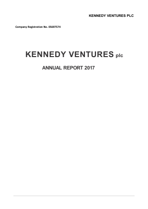 Kazera Global (previously Kennedy Ventures) annual report 2017
