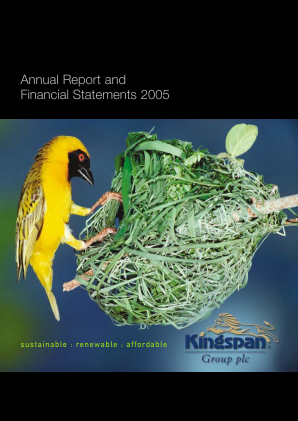 Kingspan Group annual report 2005