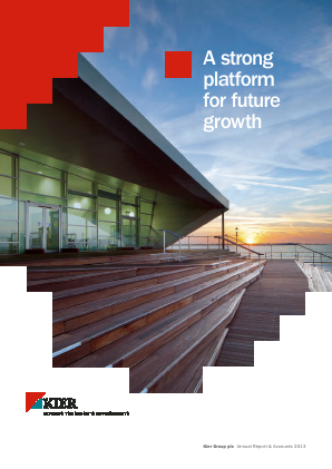 Kier Group annual report 2013