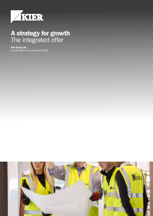 Kier Group annual report 2016
