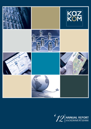 Kazkommertsbank JSC annual report 2012