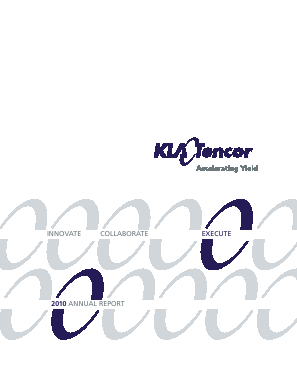 KLA-Tencor Corporation annual report 2010