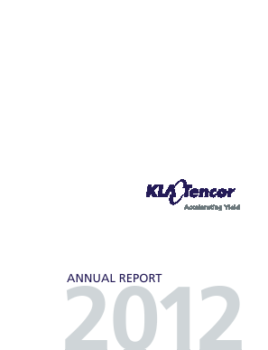 KLA-Tencor Corporation annual report 2012