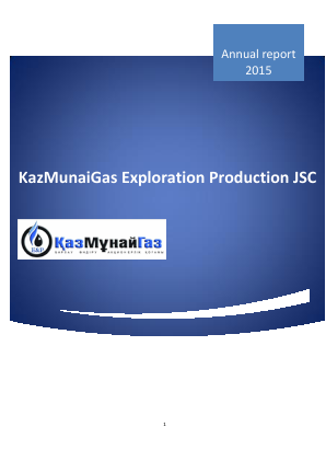 Kazmunaigas Exploration Production annual report 2015