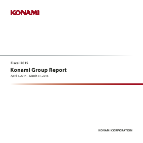 Konami Holdings Corp annual report 2015
