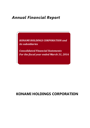 Konami Holdings Corp annual report 2016
