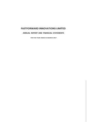 Fastforward Innovations (formally Kuala Innovations) annual report 2017