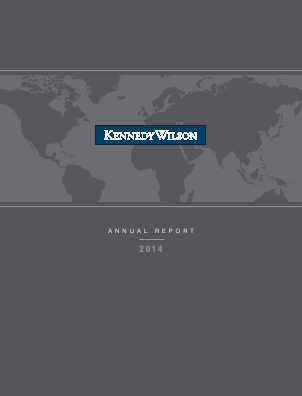 Kennedy Wilson Europe Real Estate Plc annual report 2014