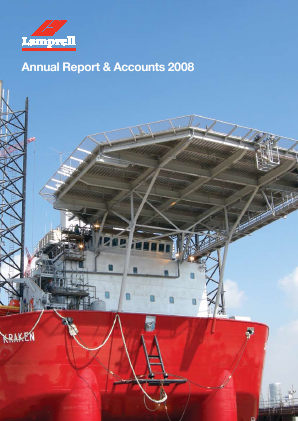 Lamprell Plc annual report 2008
