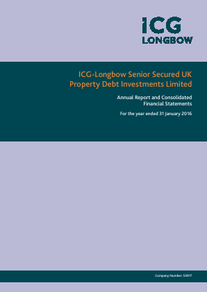 ICG-Longbow Senior Secured UK Property Debt Investments annual report 2016