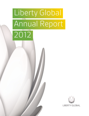 Liberty Global plc annual report 2012
