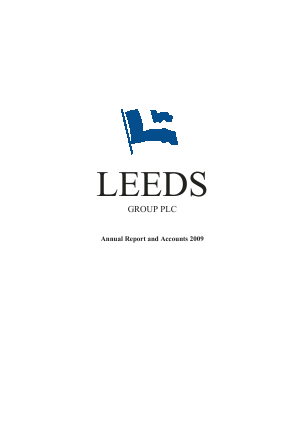 Leeds Group Plc annual report 2009