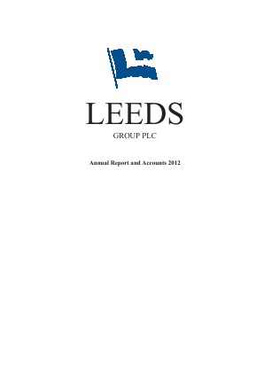 Leeds Group Plc annual report 2012