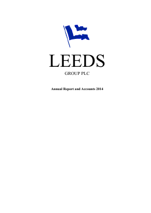 Leeds Group Plc annual report 2014