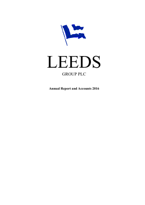 Leeds Group Plc annual report 2016