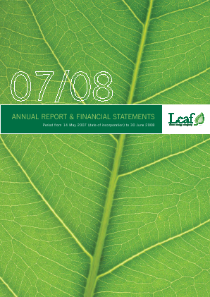 Leaf Clean Energy Co annual report 2008