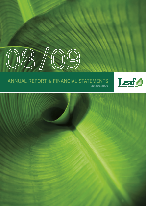 Leaf Clean Energy Co annual report 2009
