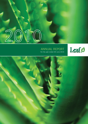Leaf Clean Energy Co annual report 2010