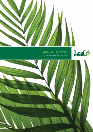 Leaf Clean Energy Co annual report 2011
