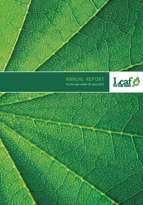 Leaf Clean Energy Co annual report 2012