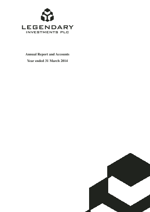 Legendary Investments annual report 2014