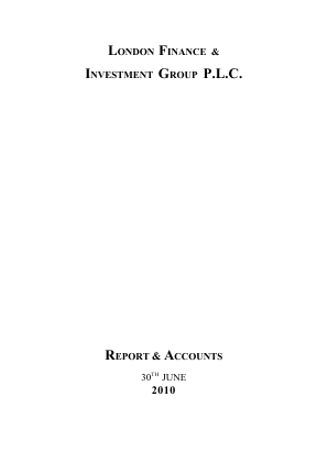 London Finance & Investment Group annual report 2010
