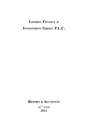 London Finance & Investment Group annual report 2012