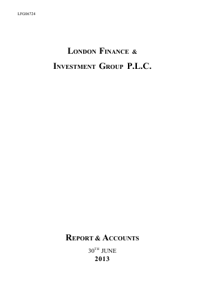 London Finance & Investment Group annual report 2013
