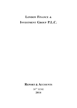 London Finance & Investment Group annual report 2014