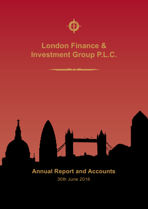 London Finance & Investment Group annual report 2016
